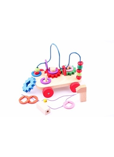 Ahşap Telli Koordinasyon ÇekÇek Araba-Learning Toys